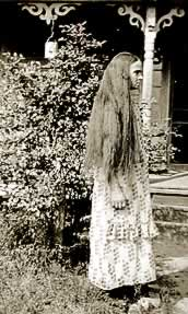 Florence with her hair down--nearly to her waist.