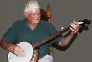 Ben with his banjo