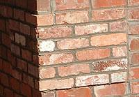 Close up of brickwork.