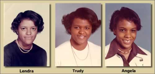 The three Camp girls, in their late teens.