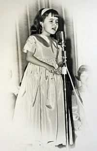 A young Jane Hill at a recital