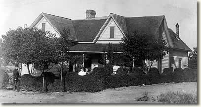 A cliffside house of the early 1900s.