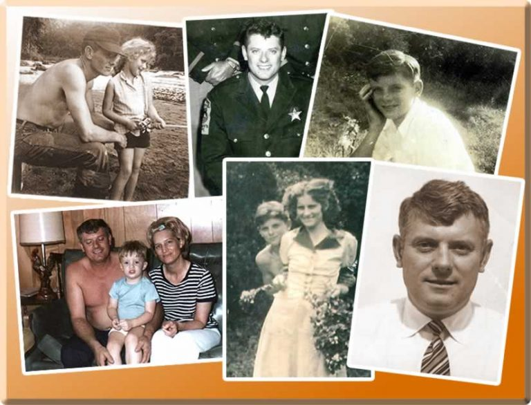 A montage of family photos.