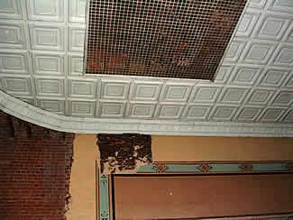 The auditorium ceiling.