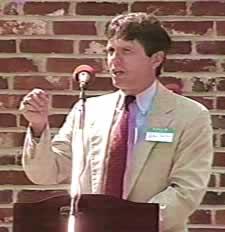Walter Dalton addressing audience