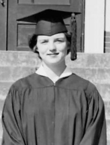 Betty Houser in cap and gown