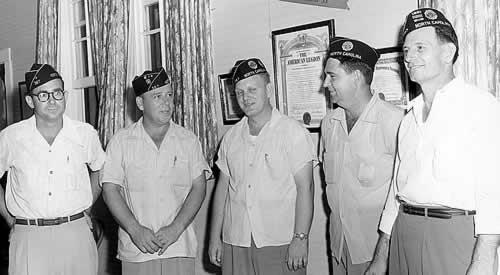 Five Cliffside WII veterans.