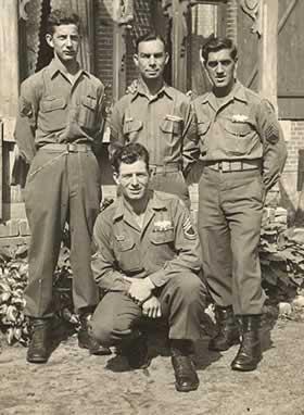 Four sergeants in uniform.