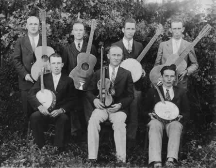 One of Dewey's string bands