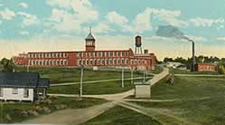 Hand-tinted postcard of the mill c. 1925