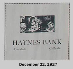 Haynes Bank Ad