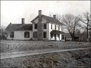An old farmhouse, built in the late 1800s, where R. R. Haynes lived prior to and during his early success in the textile industry.