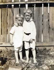 Esper and brother James. about four and five years old.