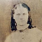 An old tintype of Eva Haynes