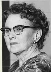 Matronly Mrs. Grover Haynes.