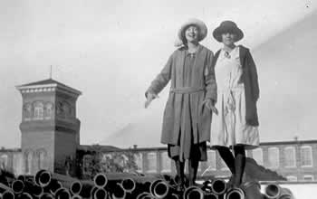 Mary Quinn and Mary, late teens, exploring and having fun in Cliffside
