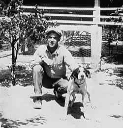 Fred Robinson with hunting dog