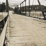 Plank-floored bridge, about 1905,
