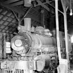 Locomotive in shed for maintaince