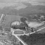 Aerial shot of Cliffside School in 1940s