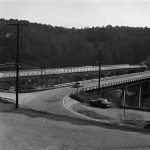 Two bridges across river