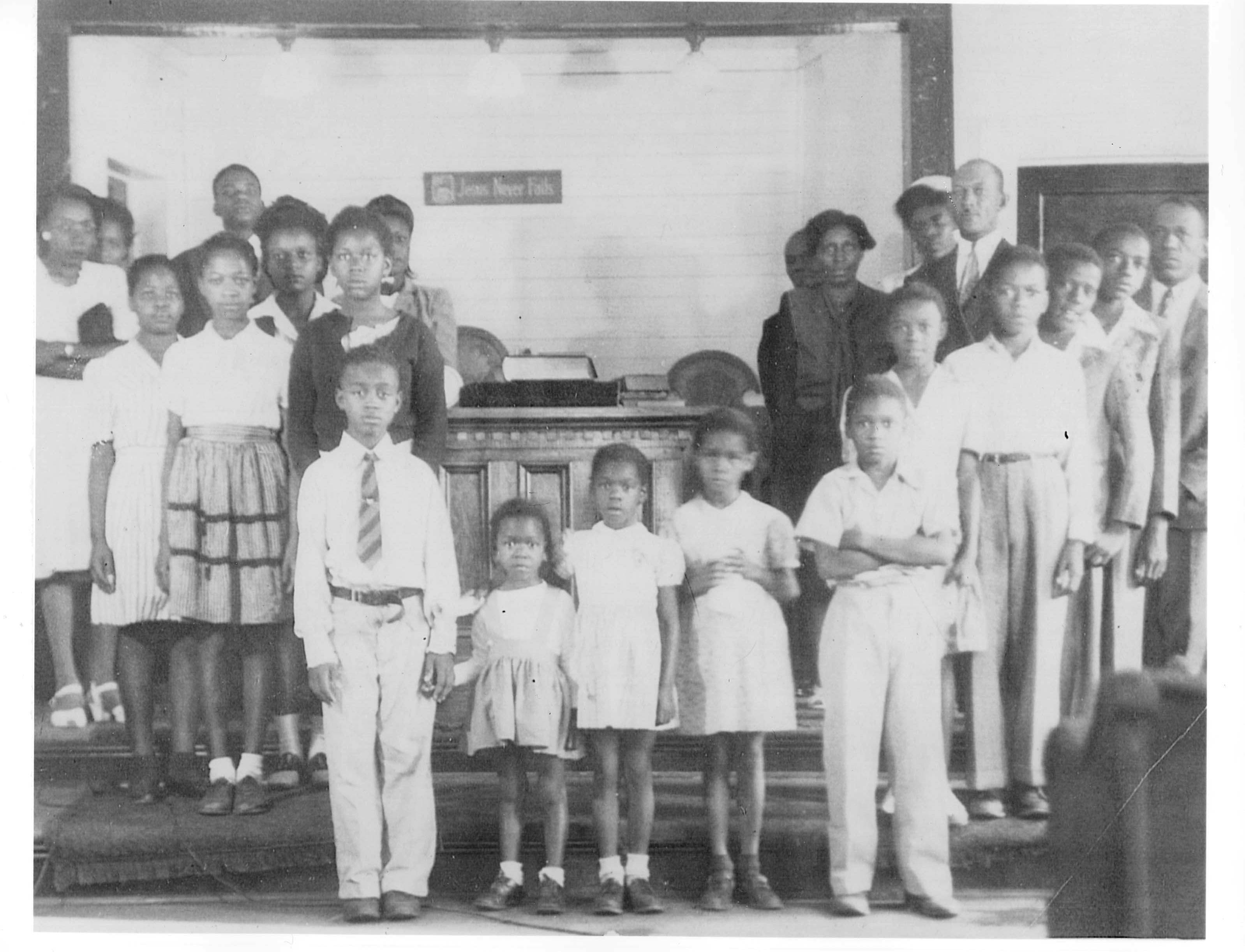 Some of congregation in 1945