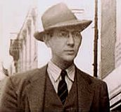 Well dressed Skipper Thompson on street in early 1940s