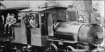 A train load of passengers - about 1908