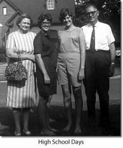 High school days. The Beatty family.