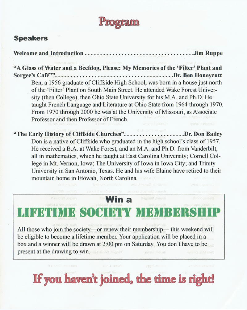 Third page of program