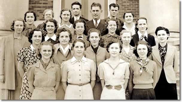 The school faculty - About 1937