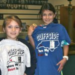 Little girls modeling their Cliffside tee-shirts
