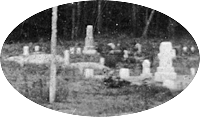 Blowup of cluster of gravestones.