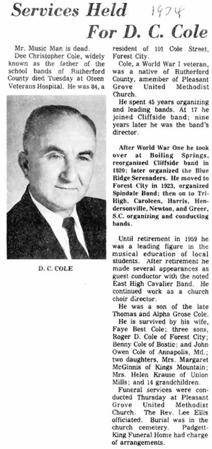 D. C. Cole
