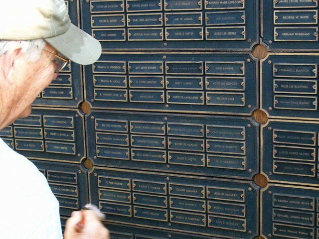 Overt 300 small name plates are in the large plaque.