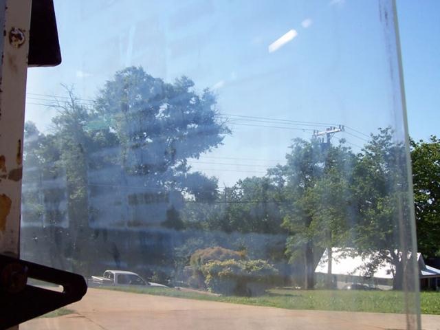 Shooting through the pane toward Main Street.