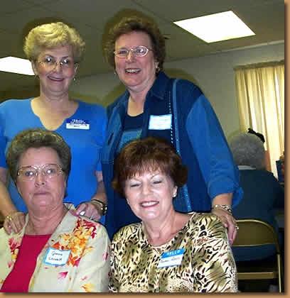 Bonnie Mintz Hines, Elizabeth Scruggs Grayson, Jerene Bailey Landreth, Yvonne Hamrick Amos