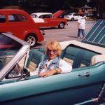 Patsy Ingram Dothard at the antique car display