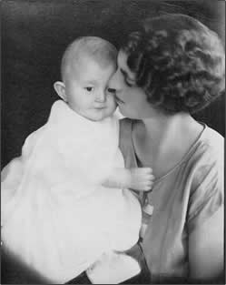Mother nuzzling infant