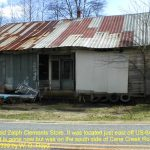 This was the old Zalph Clements Store. It was located just east of US-64 on Cane Creek Road. It is gone now but was on the south side of Cove Creek Store. 12/10/99
