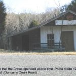 The little store that the Crows operated at one time. Duncan's Creek Road. 12/4/99