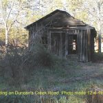An old store building on Duncan's Creek Road. 12/4/99