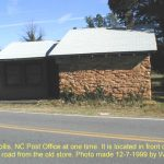 This was the Hollis, NC Post Office at one time. It is located in front of the Hollis School. Just across the road from the old store. 12/7/99