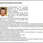 Abernathy, Patricia Humphries,