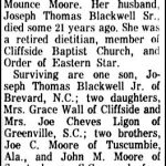 Blackwell, Nettie Moore, June 12, 1965
