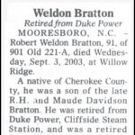 Bratton, Robert Weldon, Sep. 3, 2003