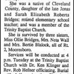 Bridges, Erma Lou, July 22, 1990