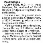 Bridges, H. Paul, June 6, 1982