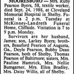 Byers, Ruby Pearson, Sep. 24, 1988