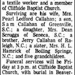 Callahan, Milan B., Jan. 22, 1974